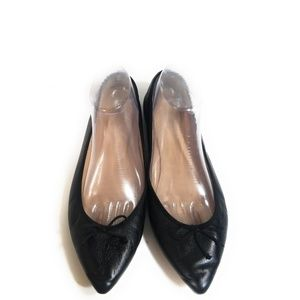 J.Crew Gemma Women Black Bow Loafers Size 9.5